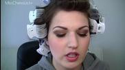 Уроци по грим - Dianna Agron Sexy Smokey Brown Make up