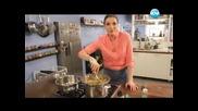 Шоколадов крем, паниран език, паста с вино, свинско със сливи - Бон Апети(16.02.2013)