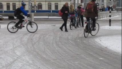 Зимно колоездене в Холандия 2013год.
