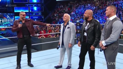 Evolution reunites at SmackDown 1000: Wal3ooha, 18 October, 2018