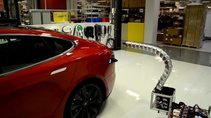 Странно зареждане на автомобил Тесла!
