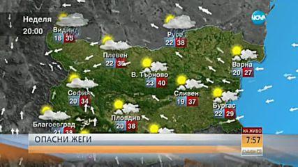Опасно горещо ще е и в неделя