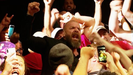 Triple H rejoices with NXT crowd following live premiere: WWE.com Exclusive, Sept. 18, 2019