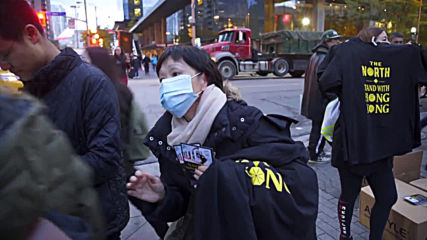 Canada: Activists distribute 'stand with Hong Kong' T-shirts ahead of Raptors season opener