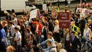 Papal visit thousands protest against Pope in London