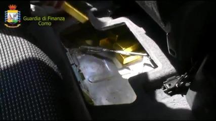 Намериха сто и десет килограма злато в автомобил