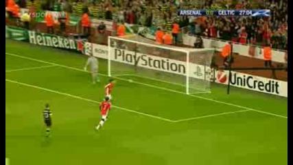 Arsenal 1 - 0 Celtic Eduardo