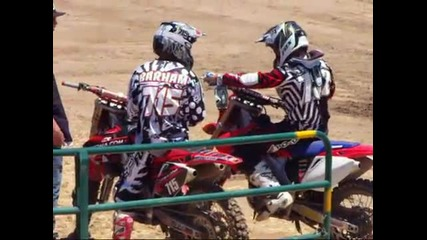 Funny Motocross Fight