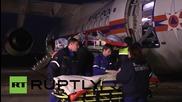 Транспортиране на жертвите от пожара в Сибир в Москва