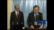 ООН иска Сирия да гарантира сигурността на химическите си оръжия
