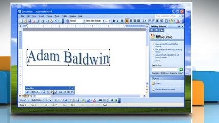 Microsoft® Word 2003: How to edit a Wordart Object on Windows® Xp?