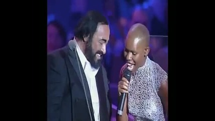 Luciano Pavarotti and Skin (skunk Anansie) - You'll Follow Me Down
