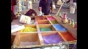 Красиво ! Рисуване на Живопис с цветен пясък в стъклена бутилка