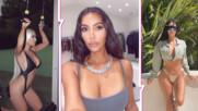 Ким, с какво си облечена? Риалити звездата впечатли с бански, който едва покрива прелестите ѝ