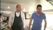 Шеф Манчев акостира в най-дълго плавалия по суша кораб - Кошмари в кухнята (14.05.2015г.) - част 3