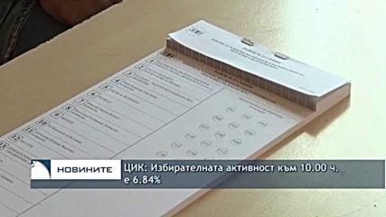 ЦИК: Избирателната активности към 10:00 часа е 6.84%