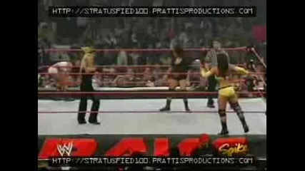 Moments Of Trish Raw 03/08/04 Trish, Gail Kim Vs Nidia , Victoria + Trish , Lita [ Backstage ]