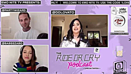 The Ride Or Cry Podcast with Demi Lovato - Emo Nite Tv 2020