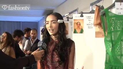 Alberta Ferretti Models Backstage - Milan Fashion Week Spring 2012 Mfw