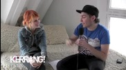 Kerrang Interview : Josh Franchesi and Hayley Williams