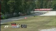 Люис Хамилтън катастрофира в последната обиколка Монца 2009