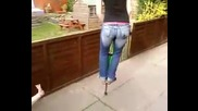 kirsty on the pogo stick