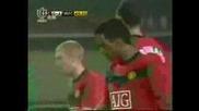 Грийнтаун - Юнайтед 2:8!част От Мача в Който Бербатов направи 3 Асистенций и един Гол!!