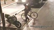 Велосипедист рита мотоциклет