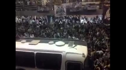Airport Macedonia Crazy Paok fans sing !