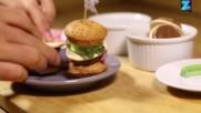 Парти хапки: Макаронени бургери