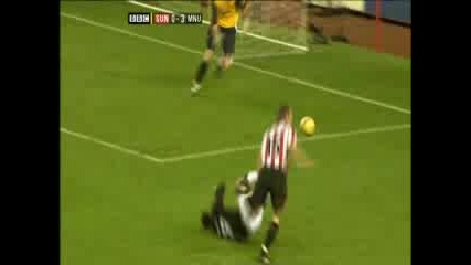 Sunderland 0:4 Manchester Utd. - Saha