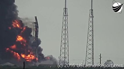 USA: Footage captures moment of SpaceX rocket explosion