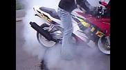 Пилене на гуми - Honda the best ^^