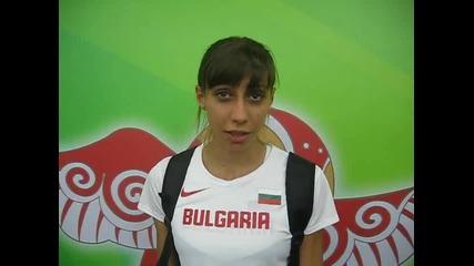 Мирела Демирева след финала на висок скок