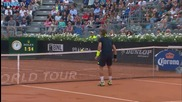 Rome 2015 - David Ferrer Hits a Hot Shot, David Goffin Leading The Applause
