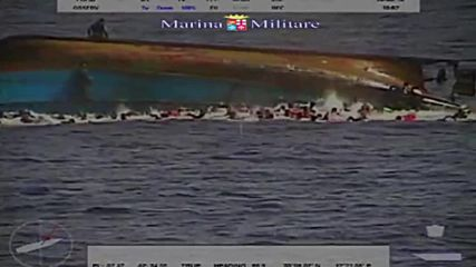 International Waters: Footage captures refugee vessel keeling over, 5 dead