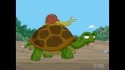 Family Guy - Охлюв на гърба на костенурка.
