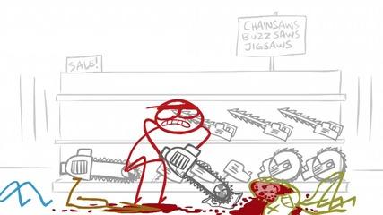 ( Bg Subs ) Dick Figures - Zombies & Shotguns ( Зомбита и пушки )
