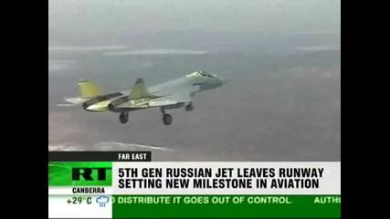 Sukhoi T - 50 Pak Pa First Flight
