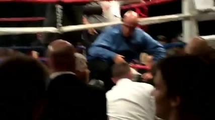 Уличен боец нокаутира професионалист за секунди!!!