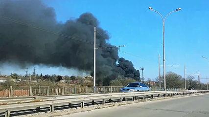 Замърсяване на булевард в Хасково
