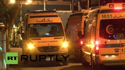 Egypt: Crash victims' bodies placed into ambulances at Cairo morgue