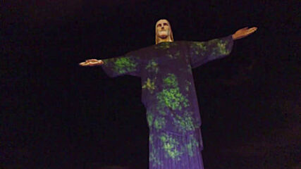 Brazil: Support images projected on Christ the Redeemer statue in wake of coronavirus spread
