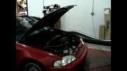 Honda Civic Sohc D16z6 Turbo Dyno 217 whp 183 wtq