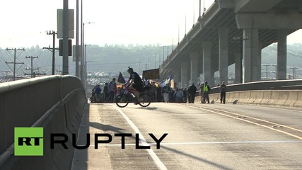 USA: Seattle activists march to shutdown work on Shell oil rig