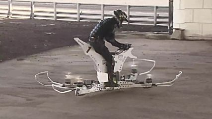 Russia: First Russian 'hoverbike' tested in Moscow