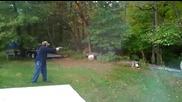 Събаряне на дърво само с един изстрел