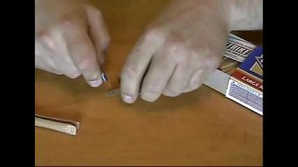 как се прави пистолет със кибритени клечки
