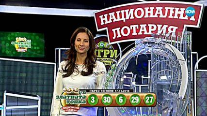 """Теглене на играта Лото 5/35 """"Златната топка"""" - 17.11.2018г."""