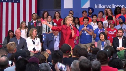 USA: Clinton supporters attend Phoenix rally ahead of Democratic Primary